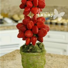 Strawberry Topiary - Love this