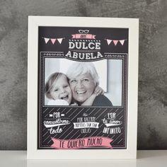 Original cuadro para decirle a tu dulce abuela, lo mucho que la quieres!!