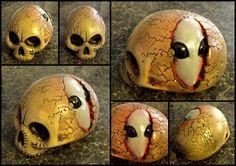 GREY BRAIN SKULL Skull Artwork, Skulls, Bones, Hand Carved, Artworks, Brain, Carving, Sculpture, Grey
