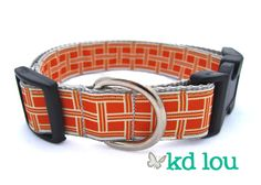 Orange Squares Collar  www.facebook.com/kdlou