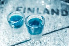 Try the unique ice glasses of our Icebar