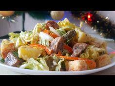 Постный салат от Цыганки. Gipsy cuisine. - YouTube Posna Predjela, Pasta Salad, Potato Salad, Cabbage, Potatoes, Vegan, Chicken, Vegetables, Ethnic Recipes