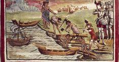 Cortés libró una batalla naval en la antigua ciudad mexica, asentada en un islote del gran lago que se desecó hace siglos Mexica, Painting, Art, Shock Wave, Great Lakes, Enemies, Warriors, Craft Art, Painting Art