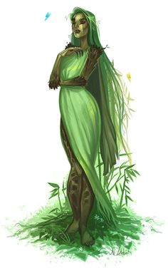 ArtStation - Sister Willow, Al Lukehart ----- Yavanna? Character Creation, Character Concept, Character Art, Concept Art, Dungeons And Dragons Characters, Dnd Characters, Fantasy Characters, Fantasy Creatures, Mythical Creatures
