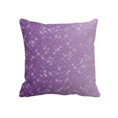 Sparkles Purple Throw Pillows