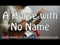 A Horse With No Name - America - Easy Song Two Chord Ukulele Tutorial Easy Ukelele Songs, Ukulele Songs Beginner, Ukulele Chords Songs, Music Guitar, Ukulele Cords, Cool Ukulele, Ukulele Tabs, Sheet Music With Letters, Piano Sheet Music