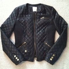 Zara Faux Leather Quilted Jacket LIKE NEW Medium Zara Faux Leather Quilted Jacket // Size: Medium // Condition: LIKE NEW // I ship same day from pet/smoke-free home // ⚡️ Rock & Roll ⚡️ Zara Jackets & Coats