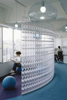 Water bottle wall Home Improvement Recycled Plastic bottle improvement plastic recycled water DecorationOutdoor Reuse Plastic Bottles, Plastic Bottle Crafts, Recycled Bottles, Plastic Recycling, Plastic Bottle House, Sweet Home, Bottle Wall, Pet Bottle, Reuse Recycle