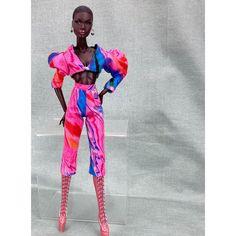 """Yoi Watthanasook on Instagram: """"#fashionroyaltydoll #nufacedoll #nadjarhymes #dollfashion #fashiondoll #dollstyle #dolloutfit #handmade #etsy"""" Fashion Royalty Dolls, Fashion Dolls, Doll Clothes, Handmade, Instagram, Etsy, Style, Swag, Hand Made"""