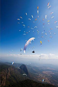 Paragliding in Valle Bravo.