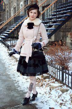 Winter cat inspired outfit Skirt: Juliette et...