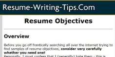 Should I use an objective statement on my Resume Writing Tips, Resume Objective, Sample Resume, Good Resume Examples
