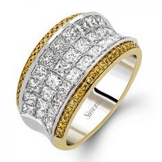 Simon G - Simon G 18K Two Tone Gold Fashion Rings