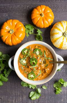 Pumpkin Chili has never tasted so good! This comforting bowl of chili makes a delicious fall meal, and is great to serve to guests. Flavored with two different peppers, spices, and a creamy texture everyone will love this variation! Paleo and Whole30 variations also included. Are you on board the savory pumpkin recipes? I sure...Read More »