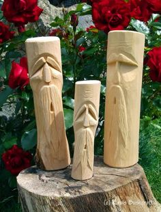 Not carved any of these for a little while now, so this week i carved the big fella on the right of the picture, the other two were carved s...