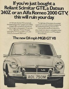 MGB – Is this the most practical classic car in the world? Nanjing, Classic Motors, Classic Cars, Vintage Advertisements, Vintage Ads, Convertible, Automobile, Mg Cars, Morris