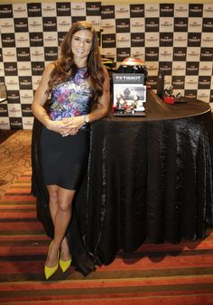 Danica Patrick celebrates her 10th year as Tissot Ambassador with a celebration at Reis-Nichols, downtown Indianapolis, 7/25/15.