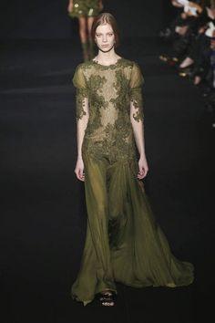 Alberta Ferretti abito in chiffon e tulle con fiori ricamati - Google Search