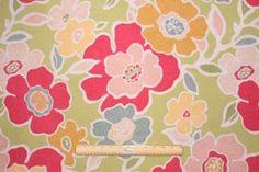 Fabric by the Yard :: Richloom Hazel Printed Cotton Drapery Fabric in Garden $8.95 per yard - Fabric Guru.com: Fabric, Discount Fabric, Upho...