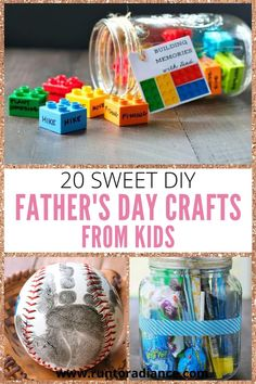 All of these easy Father's day crafts are unique thoughtful and simple enough that your kiddos can make them all by themselves! Diy Father's Day Crafts, Tie Crafts, Father's Day Diy, Rock Crafts, Crafts For Kids, Diy Gifts Cheap, Easy Diy Gifts, Fathersday Crafts, Small Flower Bouquet