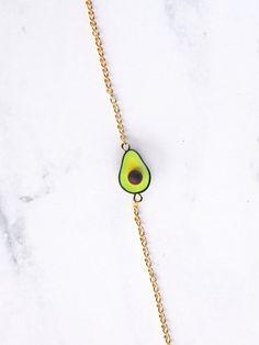 Avocado Minimalist Dainty Bracelet 18K Gold