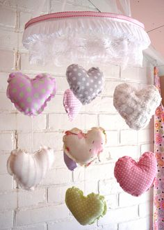 Hey, I found this really awesome Etsy listing at https://www.etsy.com/listing/168106415/baby-mobile-heart-baby-mobile-shabby