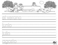 Seasons of the Year Spanish Printout