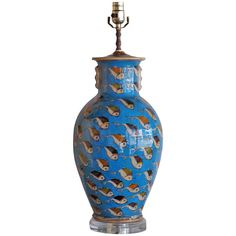 1960's Hand Painted Ceramic Persian Lamp | From a unique collection of antique and modern table lamps at http://www.1stdibs.com/lighting/table-lamps/