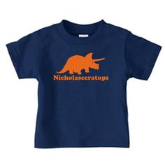 dinosaur shirt personalized | Personalized dinosaur name t-shirt, triceratops dino t shirt for boys