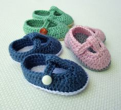 Mary Janes crochet baby shoes pattern