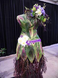 Designer runway model floral