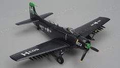 Airfield Skyraider A1 4 Channel RC Warbird Airplane Ready to Fly 800mm Wingspan (Blue)