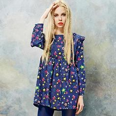 Buy 'ELF SACK – Star-Print Denim Dress ' with Free Shipping at YesStyle.com.au. Browse and shop for thousands of Asian fashion items from China and more!