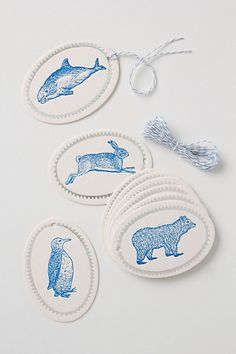 Arctic Letterpress Gift Tags