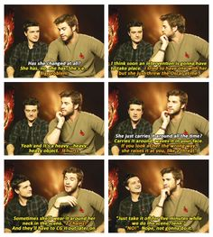 Josh Hutcherson & Liam Hemsworth about JLaw after winning her oscar. :') ohgod I love her
