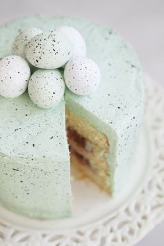 Beautiful Speckled Egg Cake