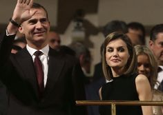 """King Felipe VI of Spain and Queen Letizia of Spain attend """"In Memorian"""" concert at the National Auditorium on March 10, 2016 in Madrid, Spain."""