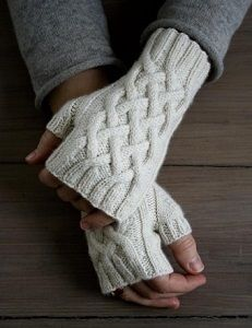 Gorgeous Cable Fingerless Gloves - You may actually look forward to winter when you make these Gorgeous Cable Fingerless Gloves. Cable knitting is one of the easiest ways to add intricate, decorative patterns to your knitting projects and this is no exception. Learn how to make fingerless gloves that are elegant and cozy. You'll be able to wear them all winter long and still have your fingers free for your busy life.