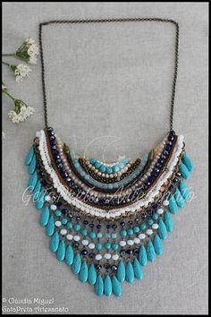 """Maxi colar """"Turquoise Explosion"""" (colecção Verão 2018)"""