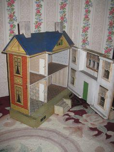 MAGNIFICENT A/O Rare Antique Gottschalk Dollhouse Circa 1910 from doriansroom on Ruby Lane