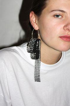 Glitzy Earring #4 / Black