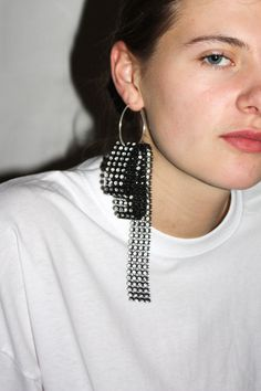 Glitzy Earring #4 / Black