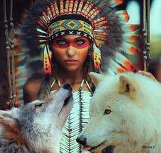 Indianerin schminken