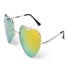 >> Click to Buy << Fashion Heart Shaped Women Sunglasses Women Glasses Brand Designer 2017 Metal Reflective Mirror Female Sun Glasses Oculos De Sol #Affiliate