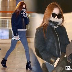 """ 151204 Gimpo Airport to Beijing,China 151205 attend ""iQIYI All•Star Carnival"" #fx #krystal #jungsoojung #soojung #krystaljung"""