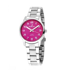 http://unemontretendance.com/1155-montre-acier-argentee-et-fuschia-pour-femme-nowley.html