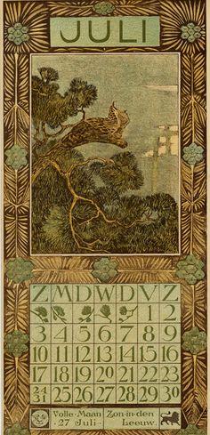 Theodoor van Hoytema, calendar 1904, July