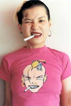 milftank: yurie nagashima The pink Tank Girl shirt tho (Source: always--tomorrow)
