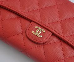 Chanel wallet classic red