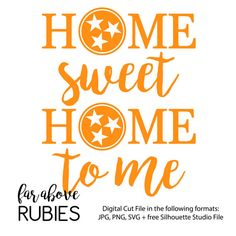 Home Sweet Home to Me Rocky Top Tri-Star SVG JPG by faraboverubies